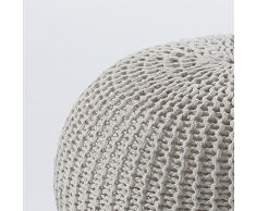 Contemporary Living Pouf Like, Cremefarben