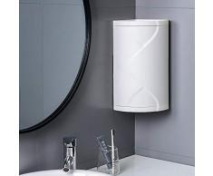 Bad Eckregal Küche Toilette Drehregal Dreieck Lagerregal Schließfach Ecke-grau