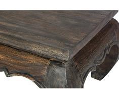 Kleiner Opiumtisch 30x30x23 cm Massivholz Handarbeit, dunkel. Als Beistelltisch, Hocker oder Tisch für Pflanzen.