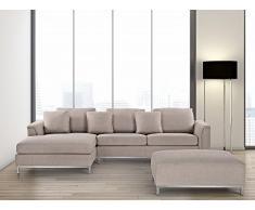 Sofa Beige – Couch – Ecksofa R – Sofalandschaft – Sofagarnitur – Stoffsofa – OSLO