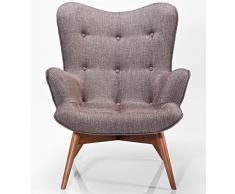 Kare Design Sessel Textil mit Armlehnen Retro Angels Wings Rhythm braun