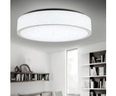 Style Home LED Deckenlampe Wandlampe Badleuchte 4 Farben Warm Kalt neutral-weiss und Nachtmodul X288-33W Weiss Ø 500mm