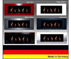Gel- und Ethanolkamin Kamin Modell Daniel - Wählen Sie die Farbe (Schwarz)