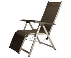 Kettler Basic Plus Advantage Relaxliege Aluminium - praktische Klappliege - Liegestuhl verstellbar & leicht zusammenklappbar - wetterfeste Gartenmöbel - silber/anthrazit