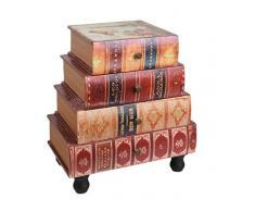 Kommode Bücherregal Schrank im Vintage Antik Buch Look Nachttisch Telefontisch