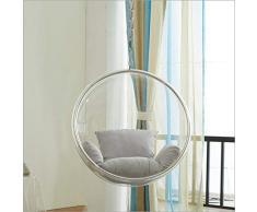 SMGPYHWYP Transparente Acryl Indoor Glass Ball Chair, Raum Stuhl, Bubble Ball Chair Swing, hängenden Korb, Schaukelstuhl