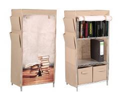 Trendy-Home24 Stoffschrank Bücherschrank Bücherregal Regal mit Buch Motiv Zeitungshalter SSV
