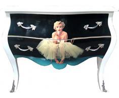Casa Padrino Barock Kommode Marilyn Monroe Mod2 120cm - Möbel Schrank Sideboard