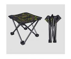 AGLZWY Camping-Hocker Folding Chair Mini Portable Hocker Campingstuhl für BBQ Camping Angeln Reise Wandern Garten Strand (Farbe : Grün, größe : 28X28X23CM)