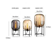 Moderne minimalistische nordische Stehlampe tischleuchte schreibtischlampe wohnzimmer lesung schwarz weiß lampenschirm stehlampe e27 lampe (Color : A-37 * 132cm)