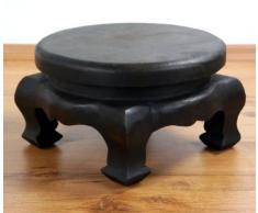 Runder Opiumtisch, Beistelltisch aus Massivholz, Massivholztisch der Marke Asia Wohnstudio, Couchtisch, Nachttisch
