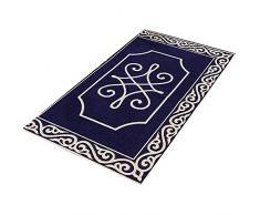 GHGMM Teppich Fußmatten, Haushalt Rutschfest dauerhaft Türöffnung Fußauflage, Passend für Badezimmer Schlafzimmer Küche Wohnzimmer,Blue,50 * 80cm