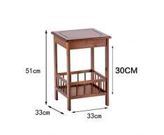 Xinxinchaoshi Antiker hölzerner Balkon-Couchtisch-Wohnzimmer-Schlafzimmer-Sofa-Beistelltisch-Nachttisch (Color : C)