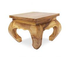 Oriental Galerie Opiumtisch Opium Tisch Beistelltisch Massiv Holz Couchtisch Nachttisch Hocker - 30 cm Natur