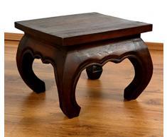 Asia Wohnstudio Asiatischer Opiumtisch, Beistelltisch aus Massivholz der Marke, asiatischer Couchtisch, Nachttisch, Massivholz Möbel, (36cm)