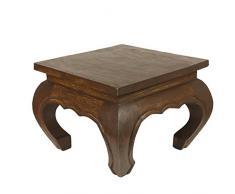 Oriental Galerie Opiumtisch Dunkelbraun - 35cm Beistelltisch Tischchen Hocker Blumenhocker Akazienholz asiatischer kleiner Tisch