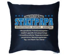 Goodman Design bedrucktes Vatertag Sofa Kissen: Stiefpapa Geschenk Dekokissen Couchkissen Sofakissen Geburtstag Ostern Couch