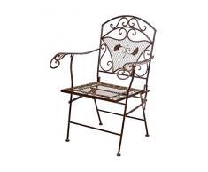 aubaho Nostalgie Gartensessel Eisen 15kg Gartenstuhl Sessel Stuhl antik Stil Chair Iron