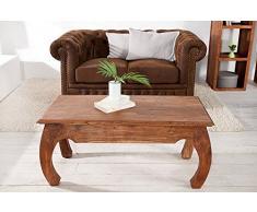 Opium Couchtisch MONSOON 100cm Massiv Akazie Opiumtisch Holztisch Beistelltisch Holz