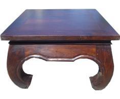 Opiumtisch Bodentisch aus Indien, quadratisch / Kaffeetische & Bodentische - Größe: 80*80 cm