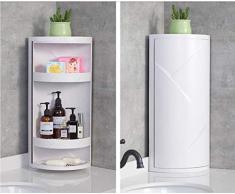 ZHAS Kosmetische Aufbewahrungsbox Bad Eckregal Küche Bad Drehregal Dreieck Make-Up Lagerregal Schließfach