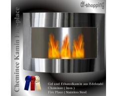 Bioethanol- und Brenngelkamin Fabienne - aus Edelstahl