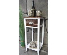 Livitat LV1022 Telefontisch, Holz, 30 x 30 x 64 cm, braun