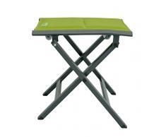 Meerweh Luxus Fußhocker grün gepolstert mit Quick Dry Foam, Klapphocker, Campinghocker