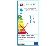 Reality Leuchten LED Deckenfluter Spock R42292108 in Messing matt, Fluter inkl. 20 Watt LED, Lesearm inkl. 5 Watt LED, Fluter und Lesearm getrennt schaltbar, Höhe180cm