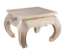 Opium Tisch 50 x 50 x 40cm, weiß, Massivholz Handarbeit