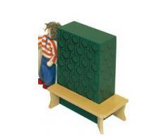 Rülke Holzspielzeug 22105 Puppenhauszubehör, holzfarben, grün, Gold
