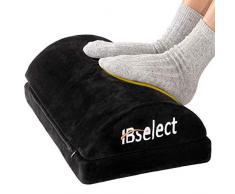 HBselect Füßauflage aus druckausgleichendem Memory Foam und Flannell Fußkissen Fußstütze Fußablage Ergonomisches Fußstützenkissen mit Antrutschbeschichtung 43 x 29 x 10 (+6) cm