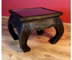 Opiumtisch in schwarz mit Elefantenschnitzerei | Massivholz Beistelltisch | Couchtisch der Marke Asia Wohnstudio (Thailand), Asiatische Möbel