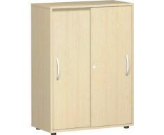 Gera Möbel S-383501-AH Schiebetürenschrank Mailand 3 OH mit Standfüßen, 80 x 40 x 110,4 cm, ahorn