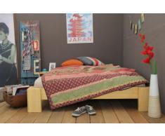 Bett 120x220cm Überlänge, Steckbett metallfrei, Bambus Bett SUVA , Höhe 30cm