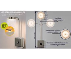 Trango LED Steckerleuchte TG2605 I Wandleuchte I Leselampe I Küchenlampe i Nachtlicht I Steckerleuchte I Lampe 5.0 Watt 3000K warmweiß direkt 230V