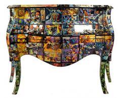 Casa Padrino Barock Kommode Comic Design Mod2 - Handgefertigt aus Massivholz- Limited Edition