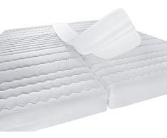 PROCAVE Liebesbrücke mit Frottee-Bezug 25 x 200 cm für eine große Liegefläche, Made in Germany, in weiß für Doppel-Bett, Matratzen-Keil als Ritzen-Füller, Matratzen-Brücke für Doppel-Matratze