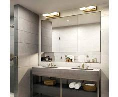 ETH WC Ganze Scheinwerfer Nordic Bronzespiegel Badezimmerspiegel Schlafzimmerspiegel Licht Kabinett LED-Leuchten Amerikanische Toilette Wandlampe D25 * H6cm, D40 * H6cm, D55 * H6cm Hell