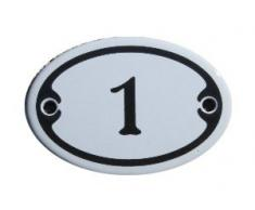 Mini Emaille Schild Jugendstil ca. 4,2 x 6,2 cm Türschild Zimmer Schublade Schrank Kommode Emailschild oval weiß