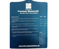 Einzelne Mesamoll2® Wasserbettmatratze 90x200 cm Wasserkern Wassermatratze für DUAL Softside Wasserbett, Außenkante Schaumstoff 180x200 cm (F3 75% Beruhigt)