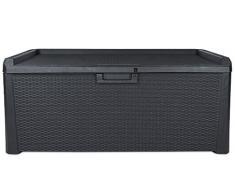 Kissenbox Santo Rattan Optik Sitztruhe Auflagenbox anthrazit 560 Liter XXL