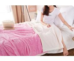Max Home Daunendecken Atmungsaktiv und komfortabel Maschinenwaschbar Baby-Decke Decke Einzel Doppel Verwendbar für Stuhl Schlafsofa (Farbe : Pink, größe : 150*200cm)