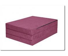FORTISLINE Klappmatratze Gästematratze 19. Violett M - 180x65x7cm W388_19