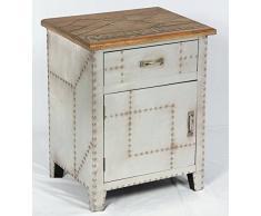 Phoenixarts Vintage Nachttisch Industrie Design Nachtschrank Retro Nachtkonsole Loft Möbel 506