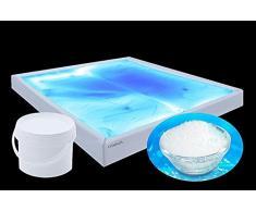 Gel-Granulat für Gelbetten & Wasserbetten macht fest, 100% Ruhe im Bett & keine Schwingungen mehr. Vergelung von Wasser-bett-mattratzen-kernen keine Heizung mehr nötig (2 kg)