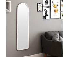 Standspiegel, Bodenspiegel Schlafsaal Schlafzimmerspiegel Langer Wandspiegel Ganzkörperspiegel Bodenspiegel Badspiegel 38 * 120cm Schmuckschränke 0605 (Color : White)