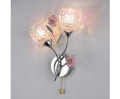 GYBYB Flur moderne Glasblume Wandleuchten Nachttischlampe Moderne Schlafzimmerspiegel Wandlampe New Aisle Stairs Glaslampen abajur @ B