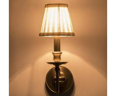 Vor Dem Bett Schlafzimmerspiegel Minimalist Retro Voll Kupfer LED Wandleuchte Salon Aisle Nostalgische Wandleuchten 5in * 16in,Single
