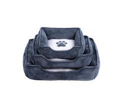 BXGZXYQ Katzenstreu Cord Zwinger Comfort Pet Sand Schlafsofa Hochleistungs-Haustierbett Bettbezug Abnehmbarer und waschbarer Bezug Loungesofa Wildleder Sofa-Stil (Farbe, Size : S)